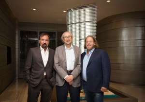 Jorge Perez, César Pelli & Gil Dezer at the Armani/Casa Opening Dinner