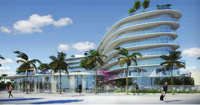 One Ocean South Beach South Corner Rendering