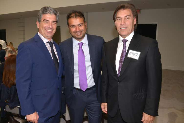 Carlos Rosso, Kamal Hotchandani and Edgardo Defortuna