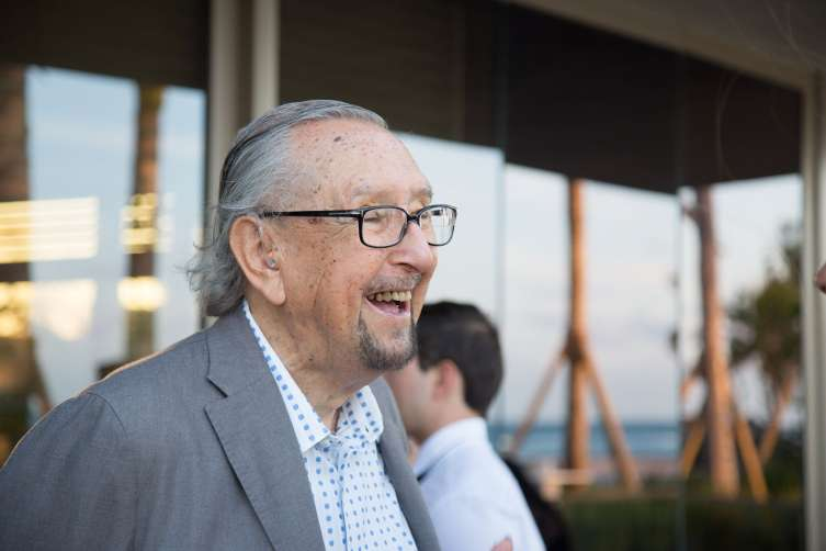 Guest of Honor César Pelli at the Armani/Casa Opening Dinner