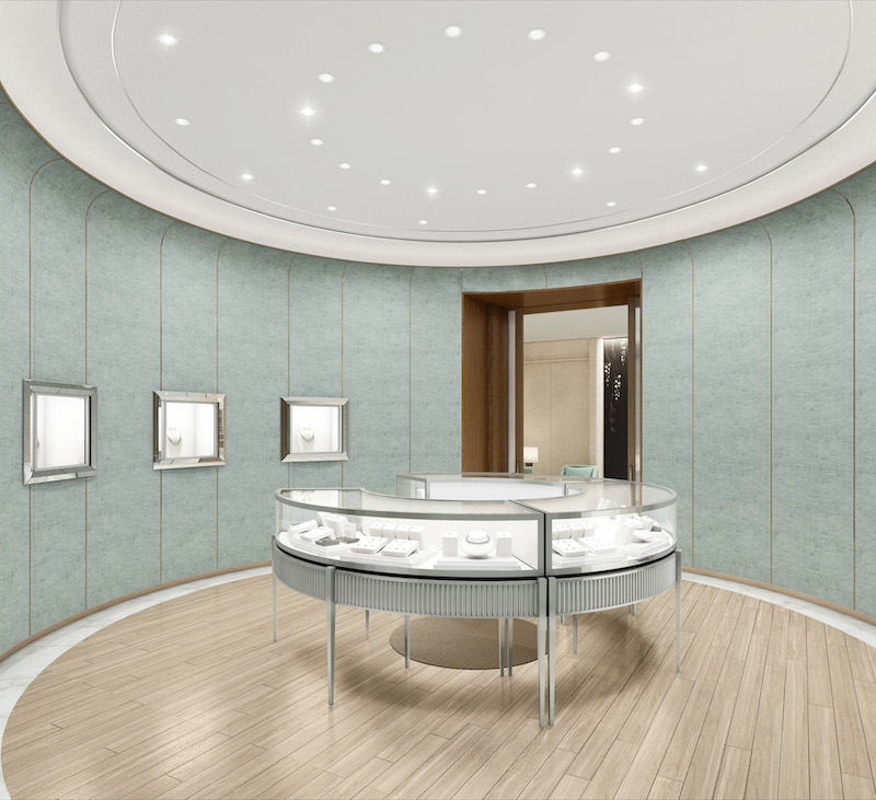 Rendering of the high jewelry salon at the new Tiffany store.