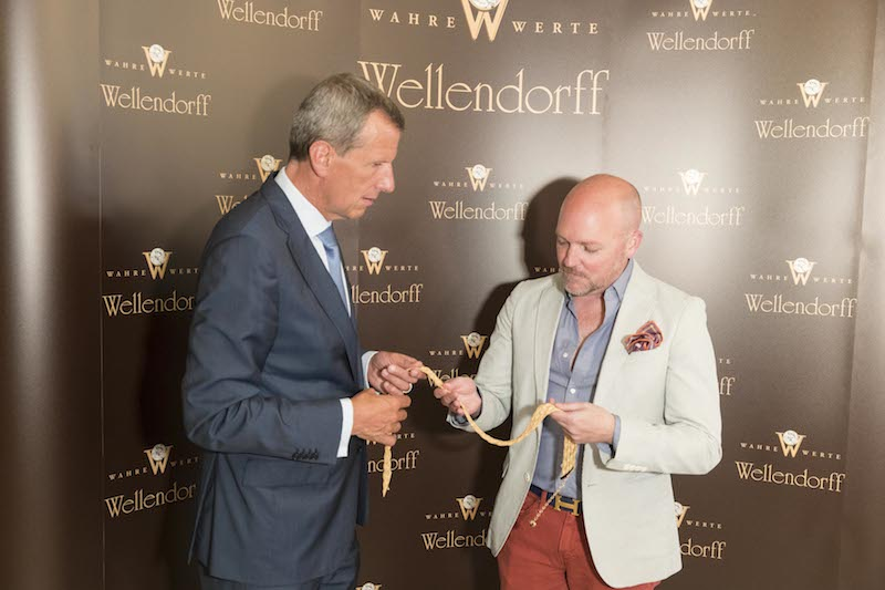 Christoph Wellendorff, and David Nash with the golden belt.