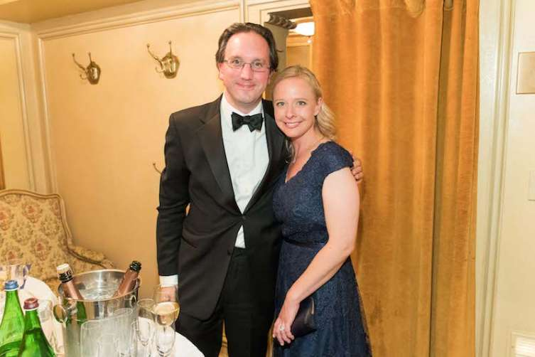 Matthew Shilvock, who is taking over Gockley's role at the opera, and his wife, Kate.