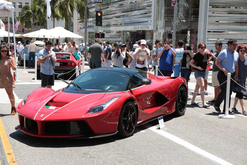 Rodeo Drive autos on display