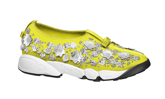 Dior Fusion sneakers in lime mesh