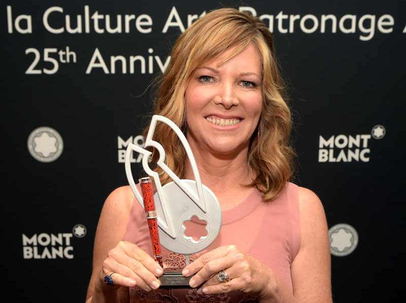 Montblanc de la Culture Arts Patronage Award North American Recipient Maria Arena Bell )