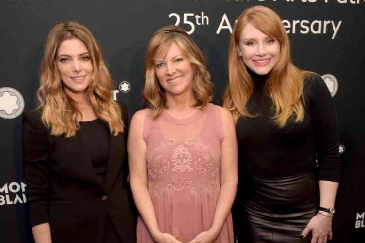 Actress Ashley Greene, Montblanc de la Culture Arts Patronage Award North American Recipient Maria Arena Bell and  actress Bryce Dallas  Howard
