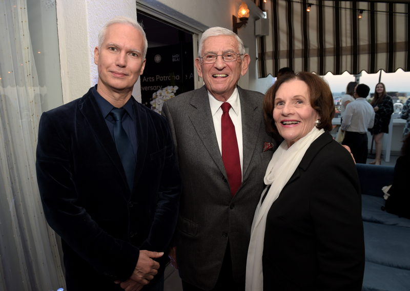 MOMA PS1 Director Klaus Bienebach, Eli Broad and Edythe Broad