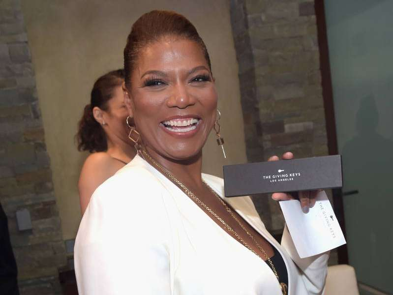 Honoree Queen Latifah poses with her award backstage during the 15th Annual Chrysalis Butterfly Ball at a Private Residence on June 11, 2016 in Brentwood
