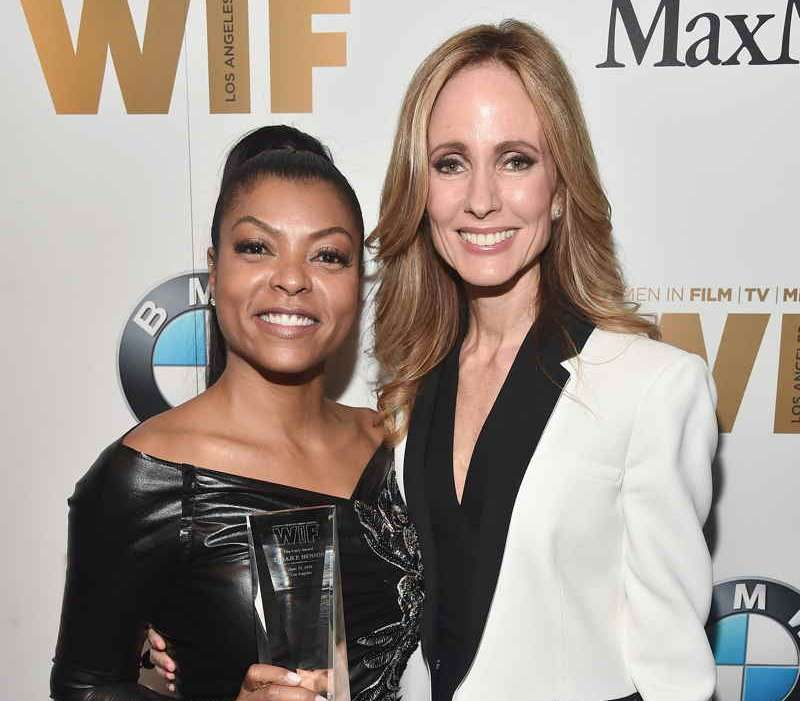 Honoree Taraji P. Henson (L) and co-chair & CEO, Fox Television Group Dana Walden