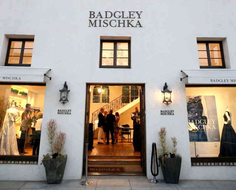 A view of the store exterior during the Badgley Mischka book signing