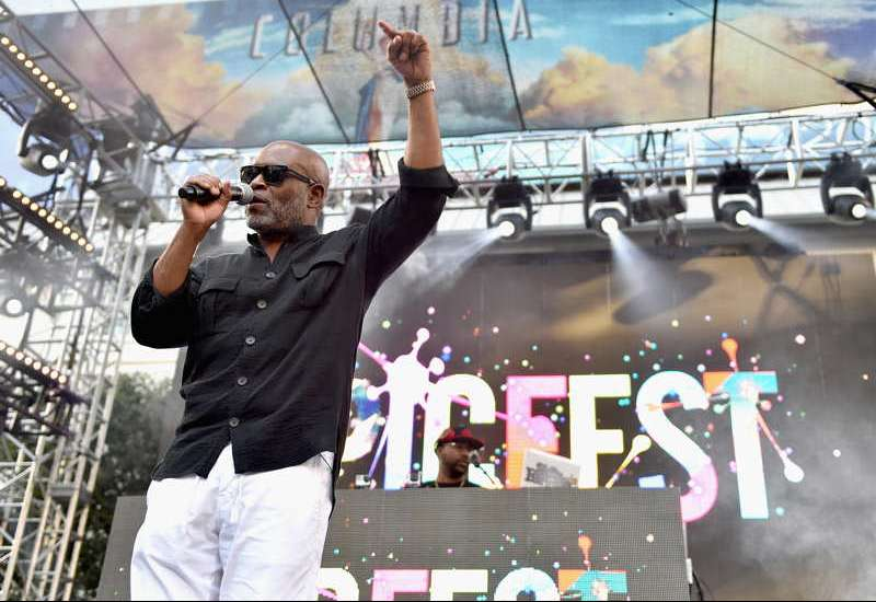 Chairman and CEO of Epic Records, L.A. Reid speaks onstage during EpicFest 2016 hosted by L.A. Reid and Epic Records at Sony Studios on June 25