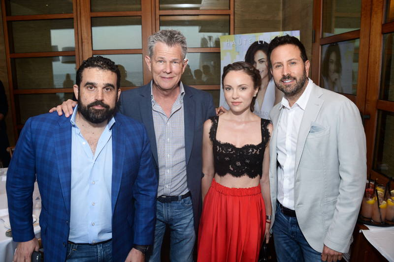 Co-founder of Haute Media Group Seth Semilof, producer David Foster, Nikita Kahn and photographer John Russo