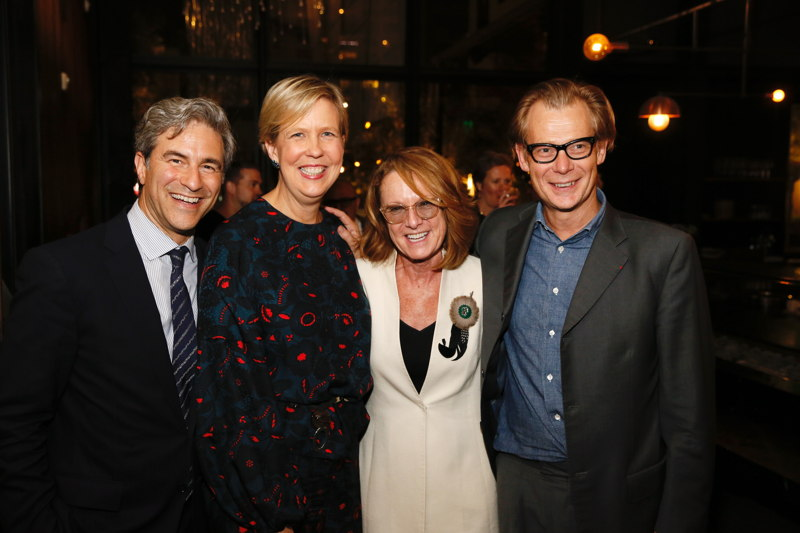 From left, Michael Govan, LACMA, Joanne Heyler, Founding Director, The Broad, Ann Philbin, Hammer Museum and Philippe Vergne, MOCA