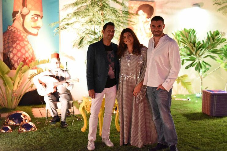 Dipesh Depala, Reina and Hazem Aljesr enjoyed a perfect evening.