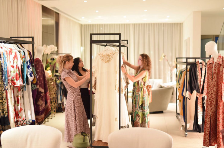 The elegant evening included many of the fabulous wares available at Cities in Dubai.