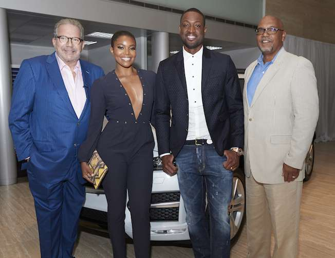 Ken Gorin, Gabrielle Union, Dwyane Wade and Burke Johnson
