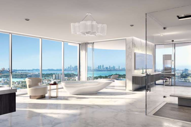 The penthouse at miami s l atelier is going for 25 million for Minimalist house miami
