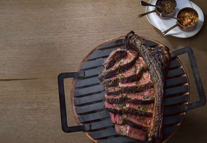 Los Fuegos Tomahawk Steak