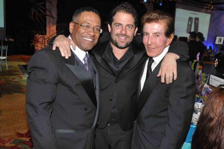 At the Make a Wish gala at the Intercontinental Hotel , Miami: -Norm, Brett Ratner, Anwar Zayden MANNY HERNANDEZ PHOTOS 305-753-5899