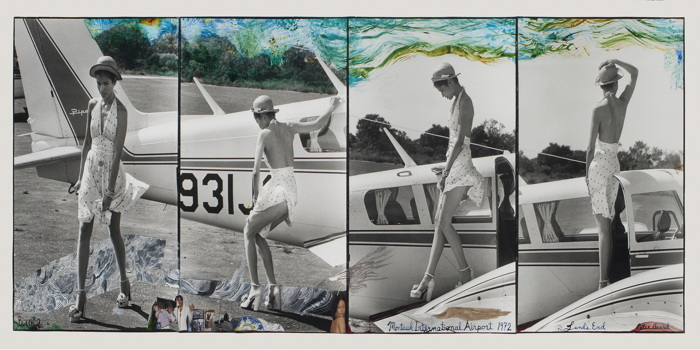 Bianca at Montauk International Airport by Peter Beard from the exhbition Peter Beard now on view at Guild Hall,