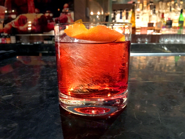 Barolo Barrel Aged Negroni from American Cut, Midtown