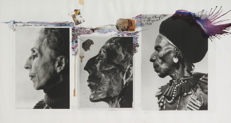 Karen Blixen, Dec.3, Ramses, Kikuyu Chief Dageretti by Peter Beard at Guild Hall Museum
