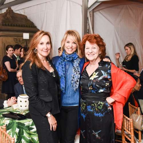 Paula Zahn with Judy Hart Angelo (right) and guest
