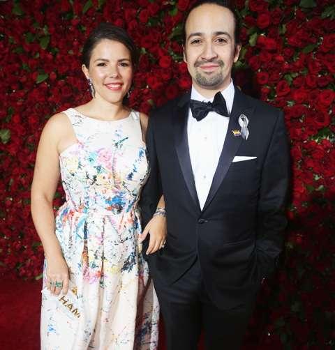 NEW YORK, NY - JUNE 12:  Lin-Manuel Miranda (R) and Vanessa Nadal attends 70th Annual Tony Awards - Arrivals at Beacon Theatre on June 12, 2016 in New York City.  (Photo by Bruce Glikas/FilmMagic) *** Local Caption *** Lin-Manuel Miranda;Vanessa Nadal