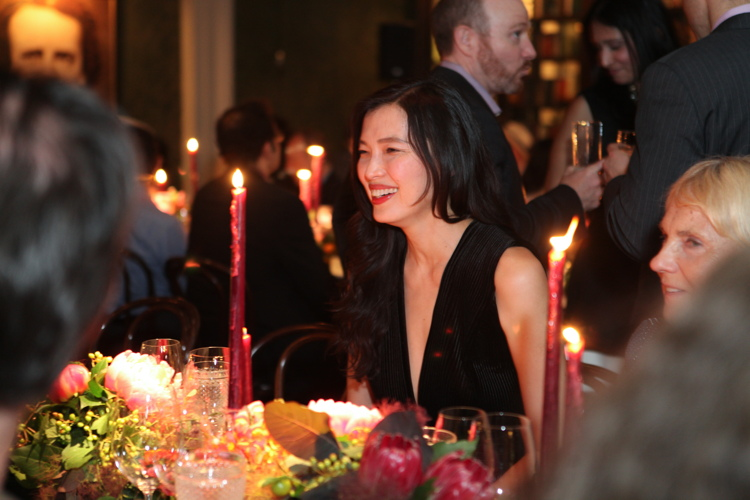 Xin Li at The Beekman preview dinner.