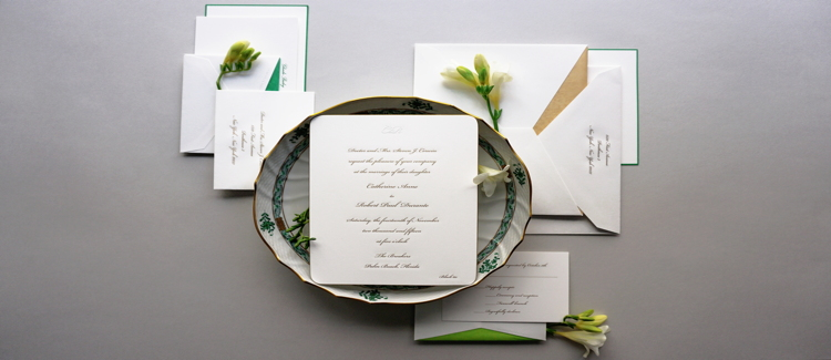Engraved invitations are always in fashion. Photos: Dempsey and Carroll