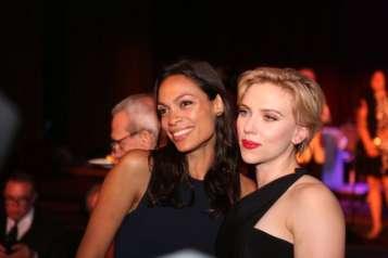 Rosario and Scarlett Johansson