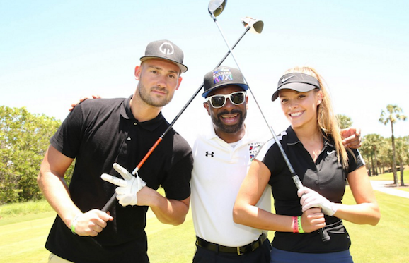 Reid Heidenry, DJ Irie and Nina Agdal at Irie Weekend 2015.