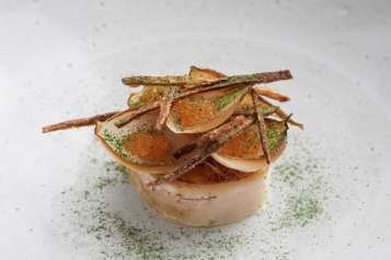 Slow baked cod served with Swedish vendace roe Bjorn Frantzen