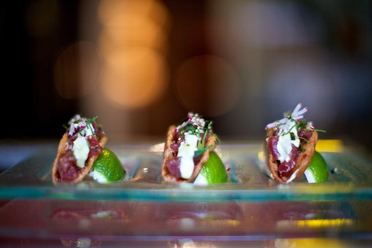 Tuna Poke Wonton Tacos