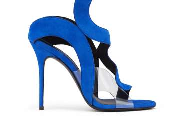 Giuseppe Zanotti blue suede cut-out sandals
