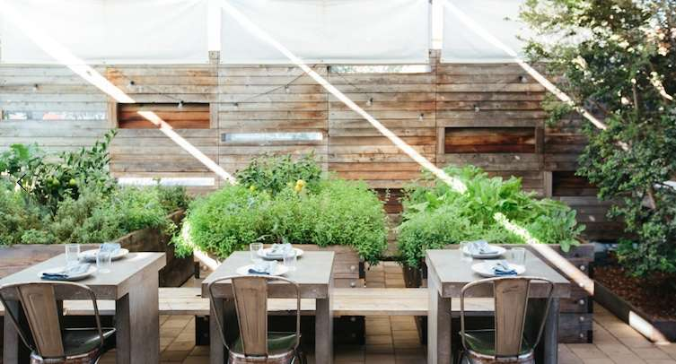 The outdoor patio at Bar Agricole.