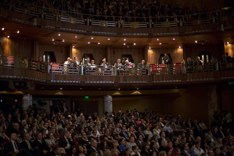 Publico asistente al concierto inaugural, en Bellas Artes, del Año Dual Alemania- México 2016-2017.