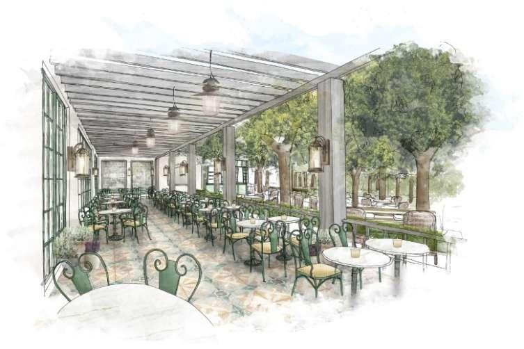 Park MGM - Restaurant Terrace Rendering