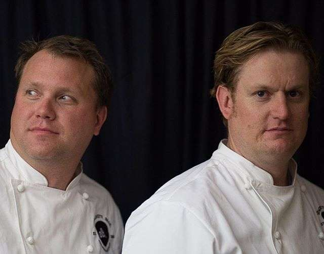 Pastry chef Aaron Toensing and chef de cuisine, Erik Lowe.