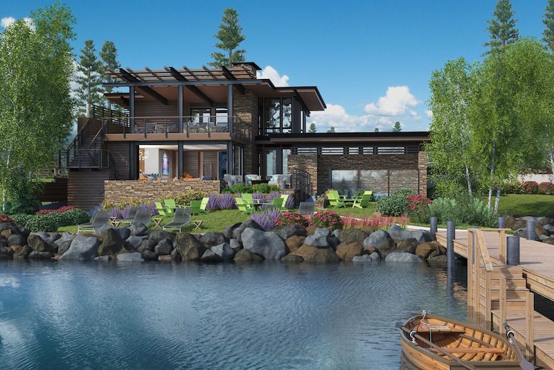 A rendering of the new Lake Club.