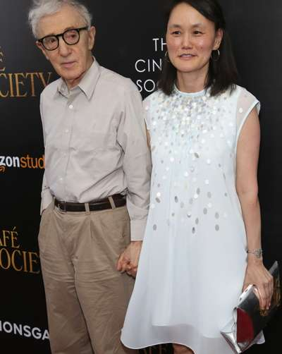 "Woody Allen, Soon-Yi Previn at The Cinema Society Host the New York Premiere of ""Cafe Society""==The Paris Theatre, NYC==July 13, 2016==©Patrick McMullan==Photo - Sylvain Gaboury/PMC=="