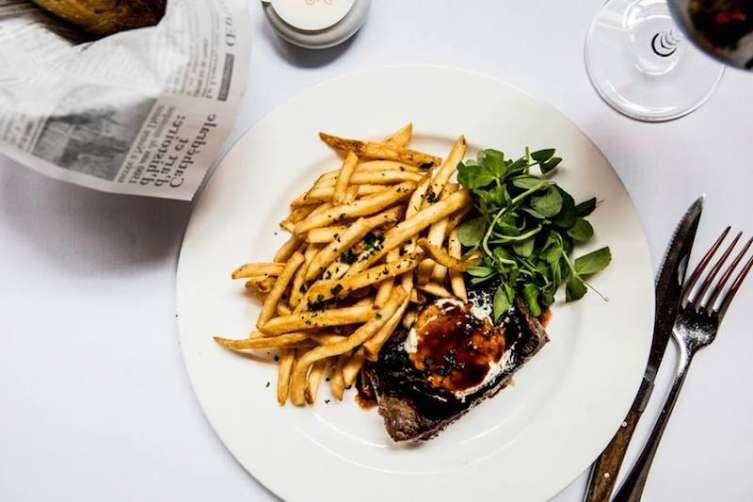 Cafe Claude's steak frites
