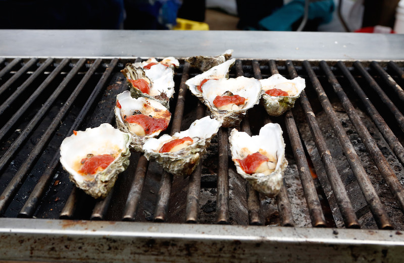 Barbecued oysters at Outside Lands 2015