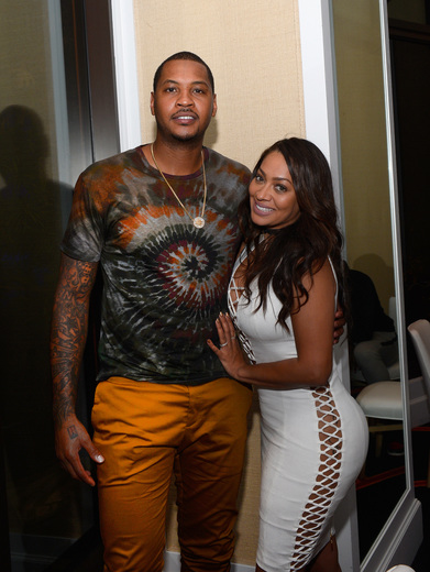 Carmelo and Lala Anthony attend the Team USA welcome dinner hosted by Carmelo Anthony at Lakeside at Wynn Las Vegas on July 17, 2016 in Las Vegas, Nevada. (Photo by Bryan Steffy/Getty Images)