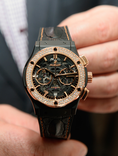 Hublot Classic Fusion Aero Fusion Chronograph Las Vegas Edition in King Gold with Diamonds