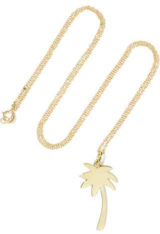 Large Palm Tree 18-karat gold necklace, $825