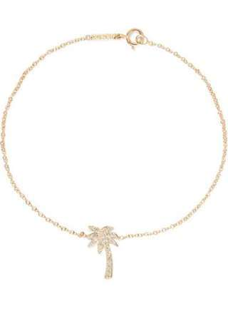 Mini Palm Tree 18-karat gold diamond bracelet, $1,200