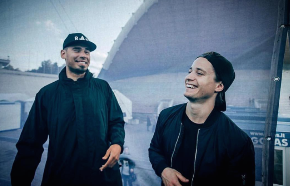 Afrojack with Kygo who performed at The Fontainebleau's New Year's Eve celebration