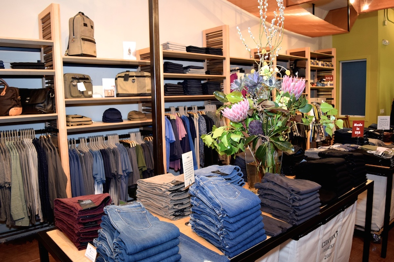 The lineup of men's clothing at Convert in Hayes Valley